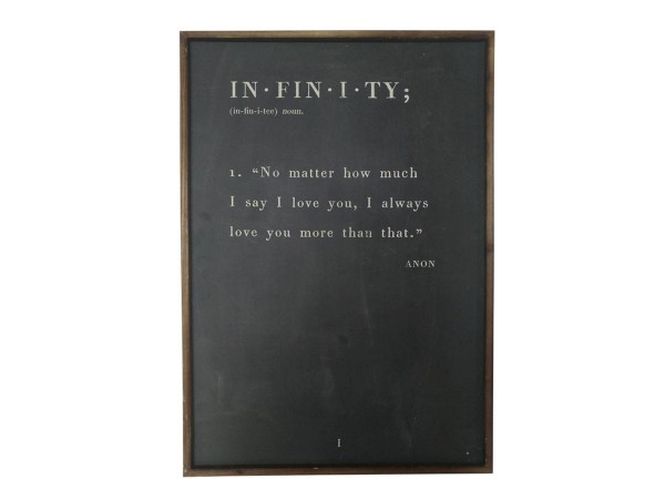 "Chic Antique gerahmtes Bild ""Infinity"""