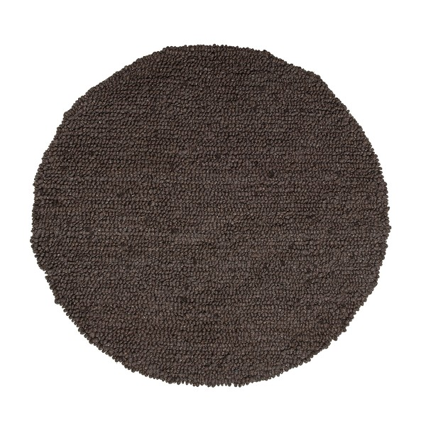 bloomingville teppich wool braun. Black Bedroom Furniture Sets. Home Design Ideas