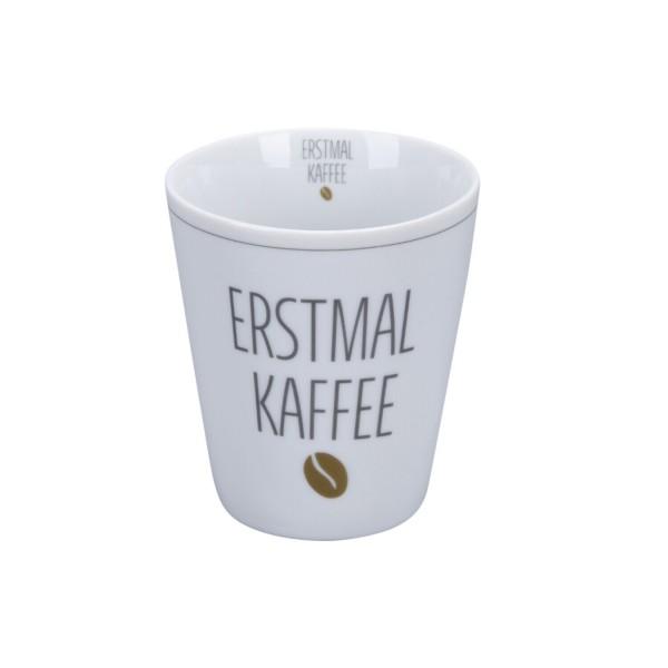 "Krasilnikoff Happy Mug ""Erstmal Kaffee"""