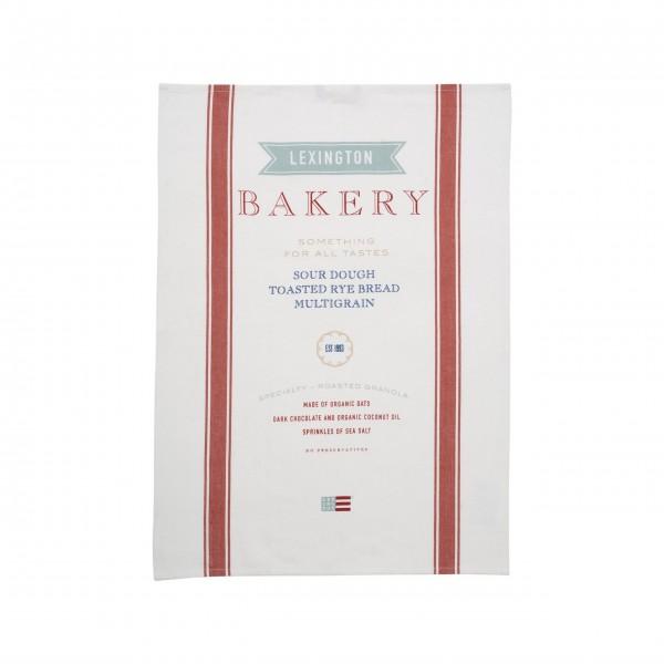 """Lexington Geschirrtuch """"Bakery"""" (Weiß/Rot)"""