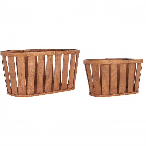 Tolles Format: Holzkörbe von Ib Laursen
