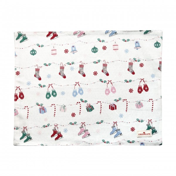 "GreenGate Platzset ""Jingle Bell"" (White)"