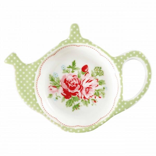 Fomrschöne Teebeutelablage aus Porzellan