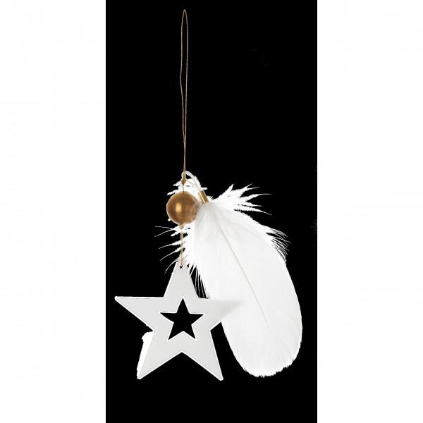 """Porzellanstern """"Weihnachtszauber Goldstern"""" (Weiß) von räder Design"""