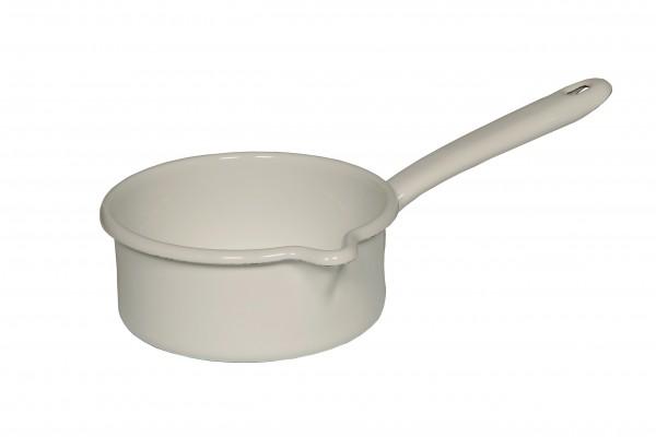 RIESS Stielkasserolle mit großem Ausguss 0,75l (Weiß)