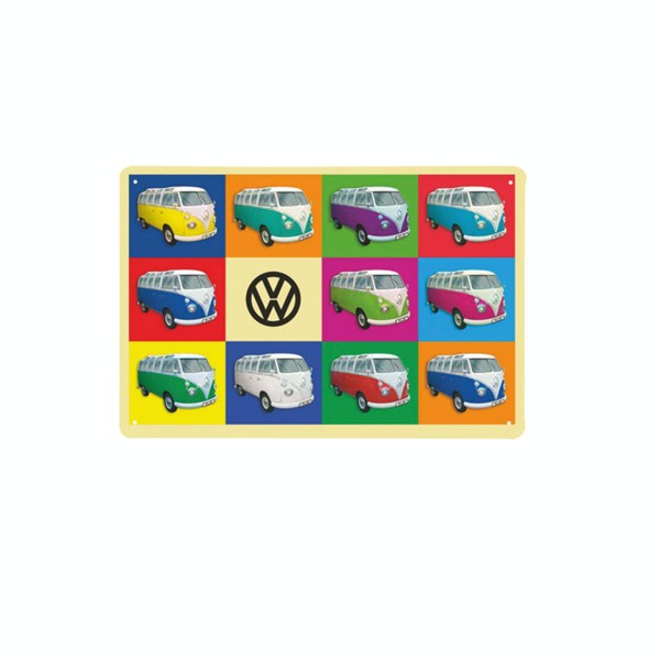 """Wanddeko für Retrofans: Blechschild """"VW"""""""