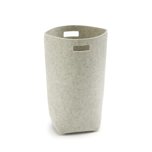Filz-Wäschekorb - 35x27x69 cm (Hellgrau/Marmor) von HEY-SIGN
