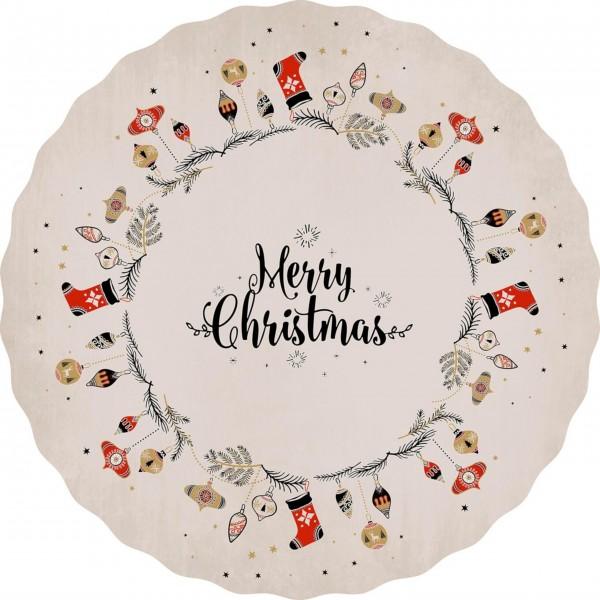 "Matteo Tischset ""Merry Christmas"" (Rosa)"