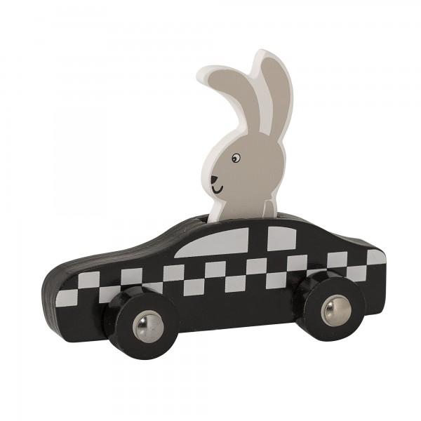 "Bloomingville Spielzeugauto aus Holz ""Hase"" (Schwarz)"