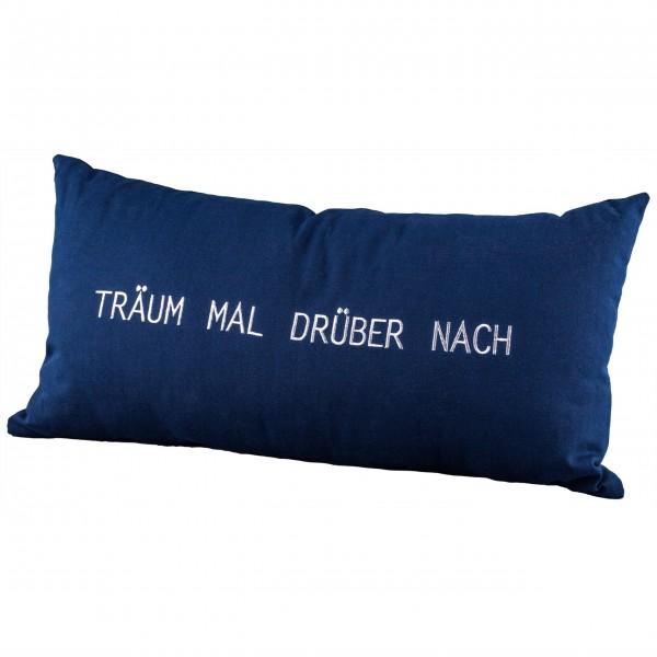 """Dekokissen """"Träum mal drüber nach"""" - 30x60cm (Blau) von räder Design"""
