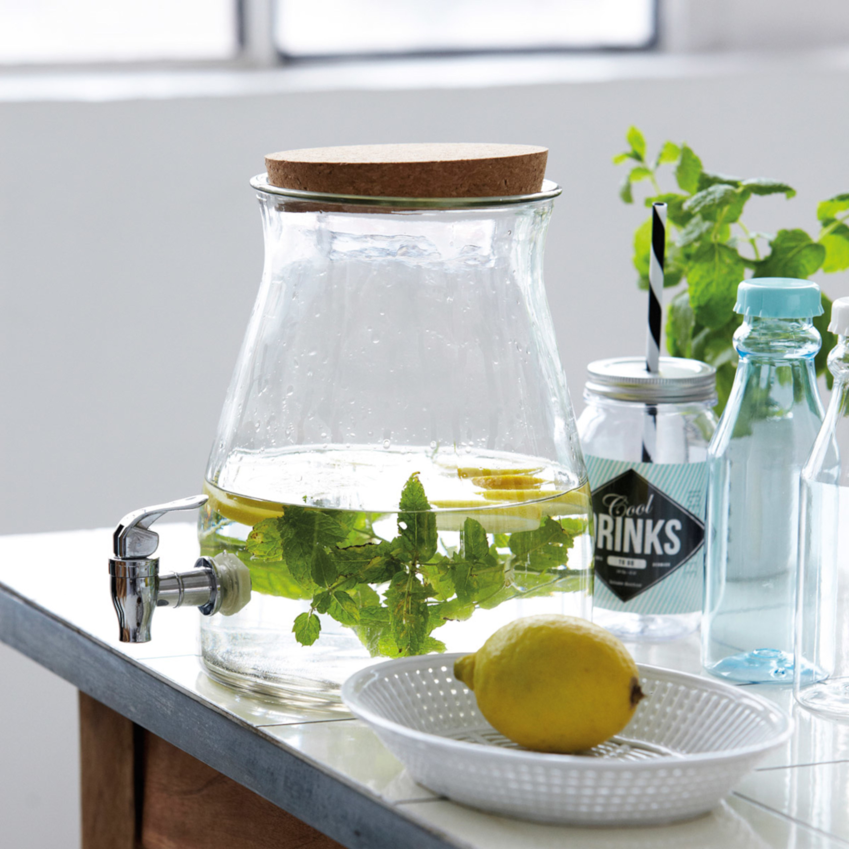 House Doctor Wasserflasche mit Strohhalm COOL DRINKS