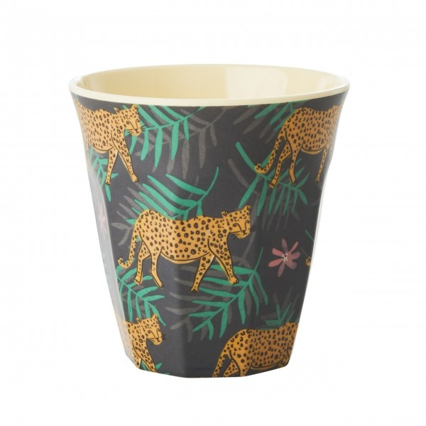 "Rice Melamin Becher ""Leopard and Leaves"""