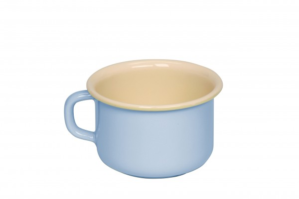 """RIESS großer Emaille-Becher """"Kaffeeschale"""" (Pastell Blau)"""