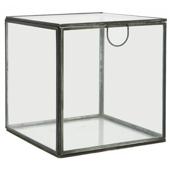 Ib Laursen Glasbox mit Deckel, quadratisch