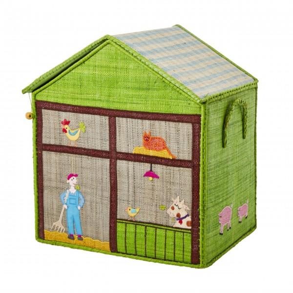"Rice Spielzeugkorb ""Farm"" - Mittel-1"
