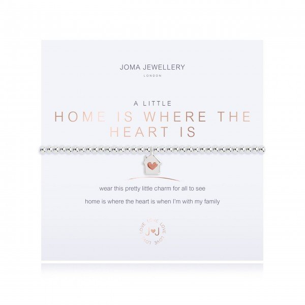 "Armband ""a little - Home Is Where The Heart Is"" von JOMA JEWELLERY"