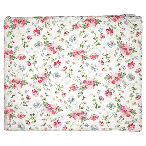 """GreenGate Quilt """"Meadow"""" (White)"""