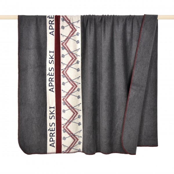 "Decke ""APRÈS SKI"" - 150 x 200 cm (Grau) von pad"