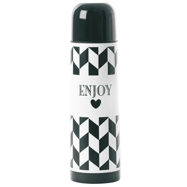 """Miss Étoile zum Mitnehmen - Thermosflasche """"Enjoy"""" in ZigZag-Muster"""