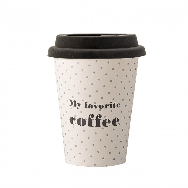 "Bloomingville Kaffebecher ""ToGo"" (Weiß) - 8er-Set"