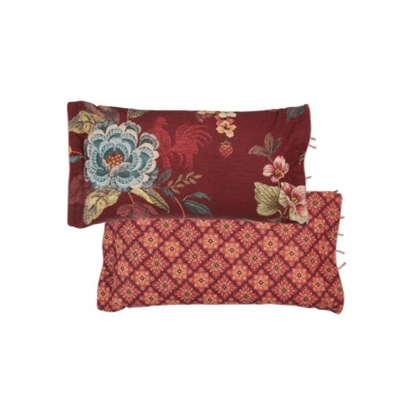 """Pip Studio Zierkissen """"Poppy Stitch"""" - 35x60cm (Rot)"""