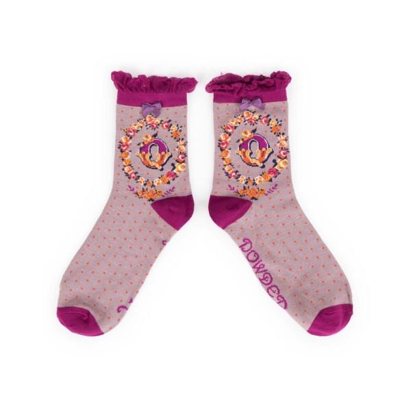 "Powder Damen Socken ""A-Z"" - Buchstabe Q"