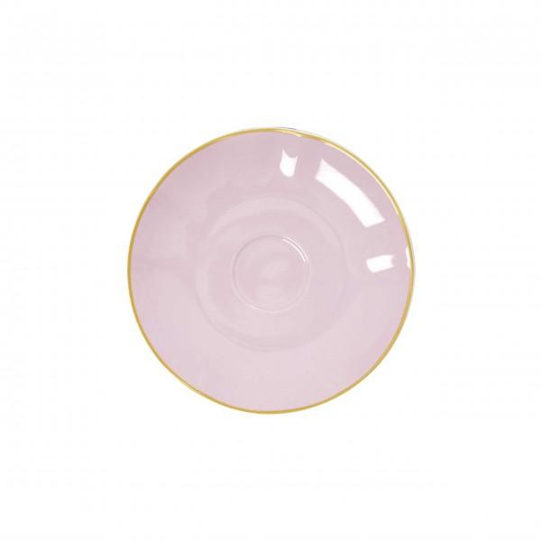 Pinke Porzellan Unterasse von Rice