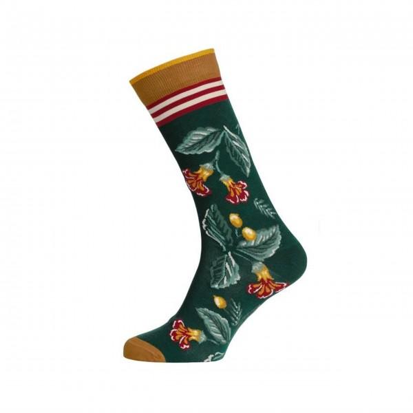 "Pip Studio Socken ""Anna Leaf Loris"" - 35-38 (Green)"