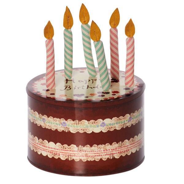 Keksdose mit Kerzen aus Stoff - wie cool ist das denn?!