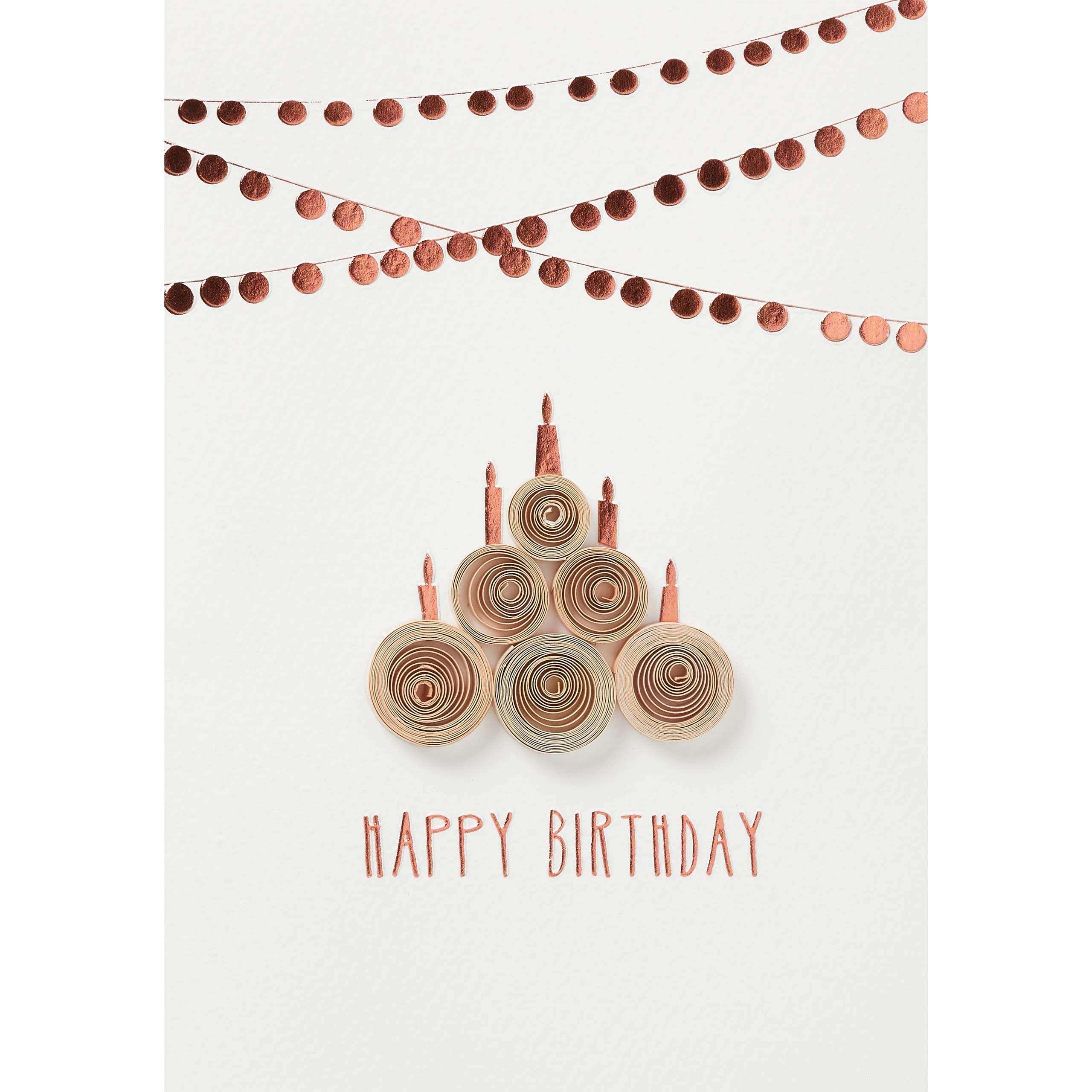 Glückwunschkarte Happy Birthday Kupfer Von Räder Design
