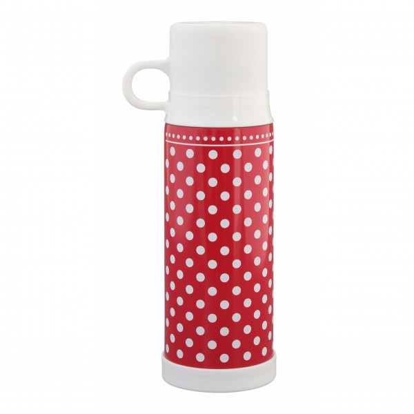 "Krasilnikoff Thermosflasche ""Dots"" (Rot)"