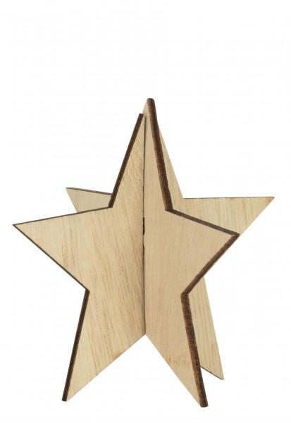 """Ib Laursen """"stehender kleiner Stern"""" (natur) im 4er-Set"""