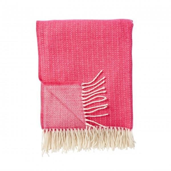 """Klippan Decke """"Stripe"""" in pink"""