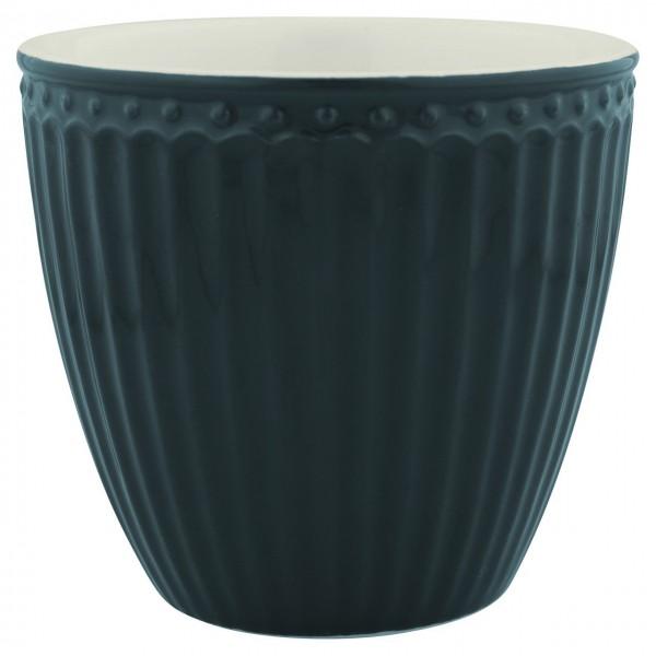 "GreenGate Latte Cup ""Alice"" (Dark Grey)"