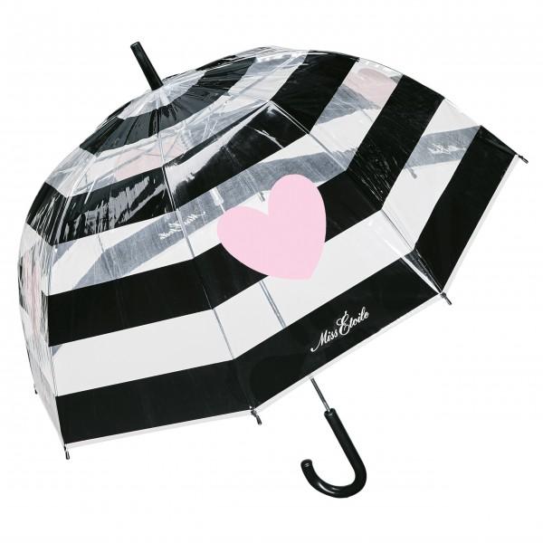 "Miss Etoile Regenschirm ""Stripe & heart"""
