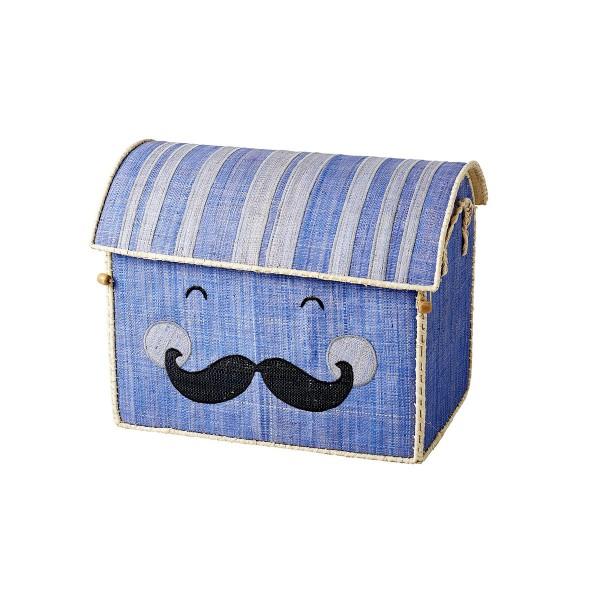 """So cool kann aufräumen sein - mit dem Spielkorb """"Smiling Moustache"""" von Rice"""