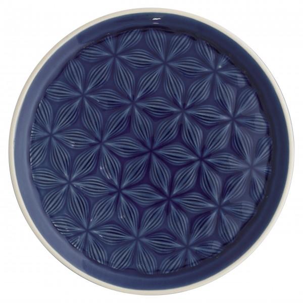 "GreenGate Keramikteller ""Kallia"" (Dark Blue)"