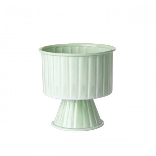rice Blumentopf aus Metall - Medium (Sage Green - Salbeigrün)
