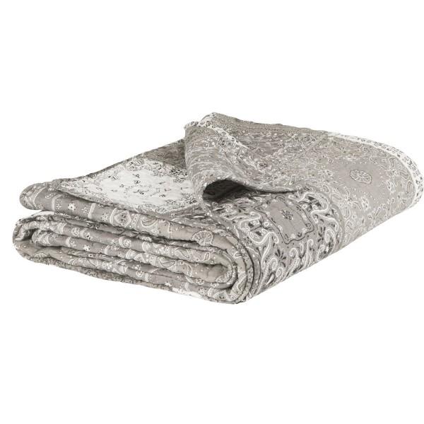 Baumwollquilt mit Patchwork-Flicken in Grautönen, von Ib Laursen