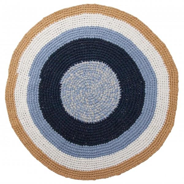 Häkelteppich Ø:12cm (Blau) von Sebra