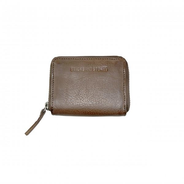 Kompakte Geldbörse aus gegerbtem Leder: von Sticks and Stones