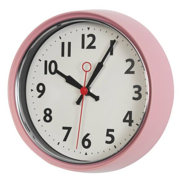 """Ein rosaner Wandaufhübscher - Uhr """"Retro"""""""