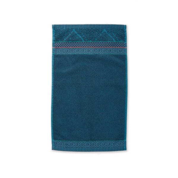 """Pip Studio Gästehandtuch """"Soft Zellige"""" - (Blau) 30x50 cm"""
