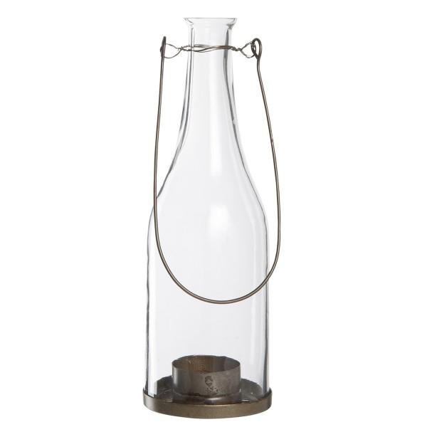 Teelicht-Windlicht in Flaschenform, von Ib Laursen.