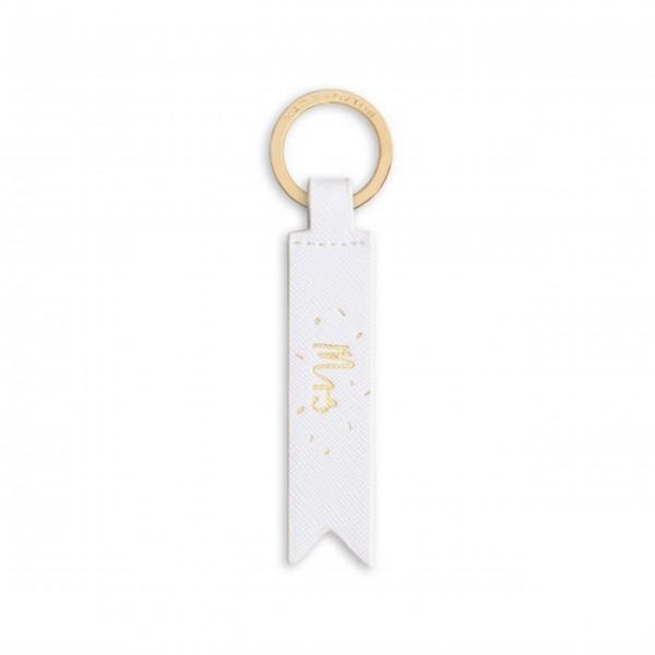 """Schlüsselanhänger """"Mrs"""" (Weiß) von KATIE LOXTON"""
