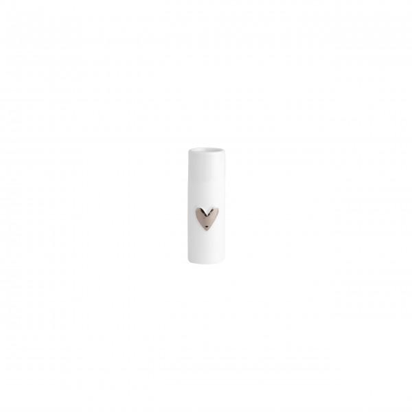 """Vasen im 2er Set """"Wolke Sieben - Herz"""" - Mini (Silber) von räder Design"""