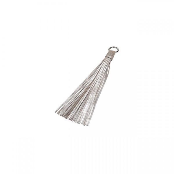 """Taschen-Anhänger """"Quaste"""" - 30 cm (Sand/Silber) von Nicole Pietag"""