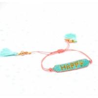 "NOÏ Armband mit Perlen "" Happy"""