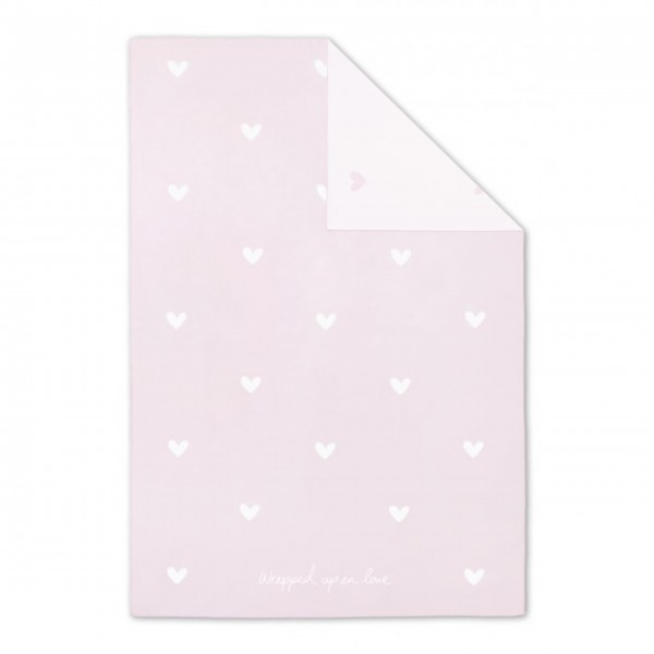 "Babydecke ""Wrapped up in Love"" (Rosa) von KATIE LOXTON"