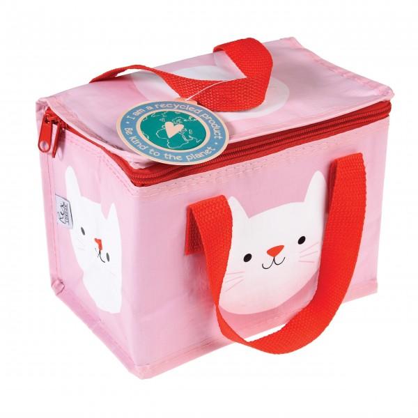 Praktische Lunchtasche mit süßem Katzengesicht